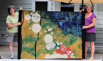 "Detail from the 2013 ""Power of Pattern"" Festival stage backdrop"