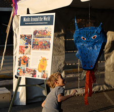 Mask tent exhibit