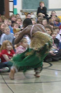 Rwandan musician at Helmsburg