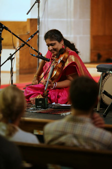 Indian violinist at First Christian Church