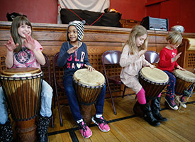 Young drummers