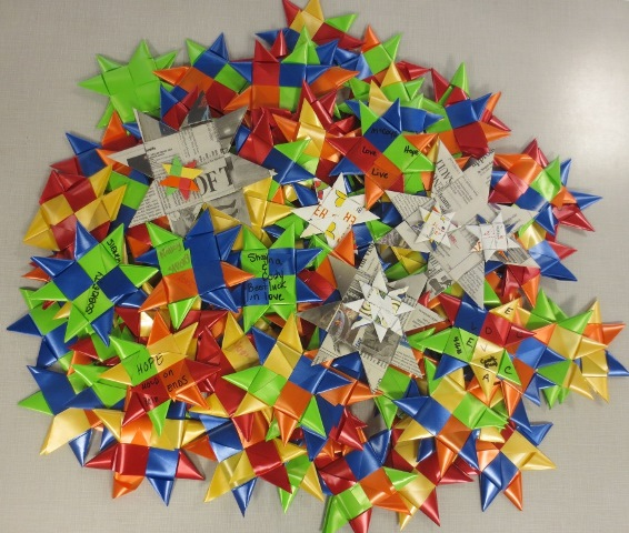 Weavers at the Monroe County Corrections Center have so far woven 88 stars and will continue to contribute to the One Million Stars project throughout this year.