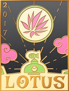 lotus 2017 pin design by Kayleigh Lebak
