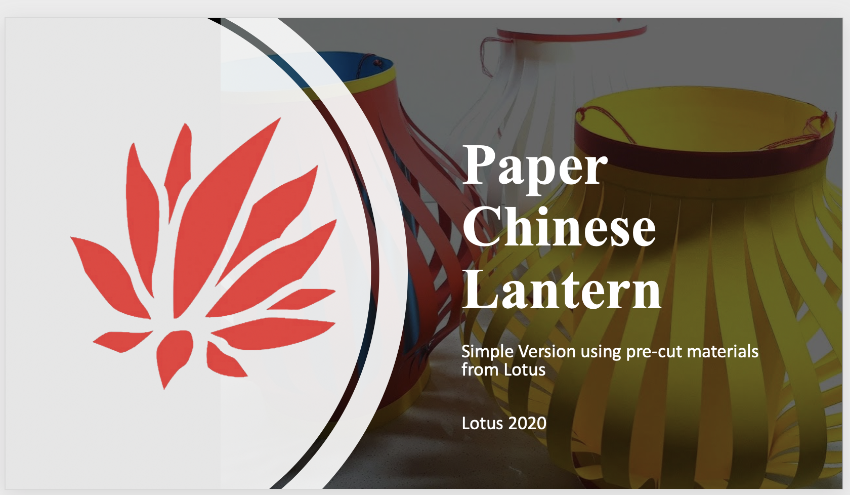 Lotus Lotus Paper Chinese Lantern Assembly Only Tutorial