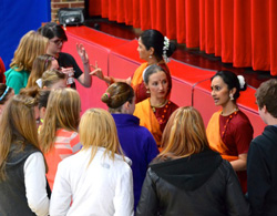 Students talk to Kalapriya