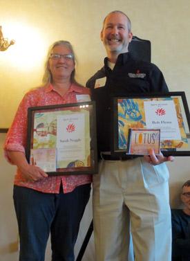 Spirit of Lotus awardees Sarah Noggle and Bob Flynn